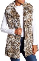 Bagatelle Cheetah Genuine Rabbit Fur Vest
