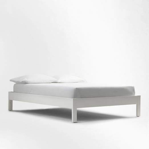 west elm Simple Bed Frame - White