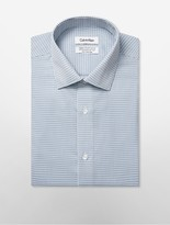 Calvin Klein Steel Regular Fit Blue + Grey Gingham Dress Shirt