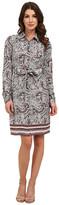NYDJ Bernadette Paisley Border Shirt Dress
