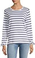 Joan Vass Striped Long-Sleeve Top