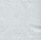Caspari Luncheon Napkins, Pack of 20, Silver