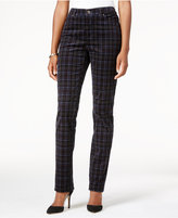 Charter Club Lexington Plaid Corduroy Straight-Leg Pants, Only at Macy's