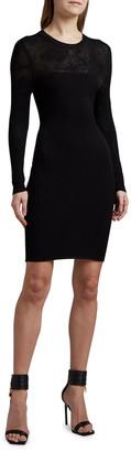 Versace Lace-Yoke Bodycon Dress