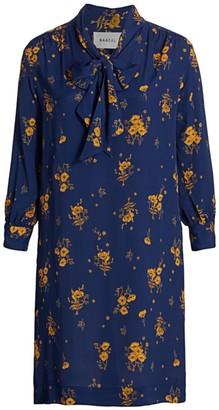 Baacal, Plus Size Midnight Poppy Scarf-Neck Dress