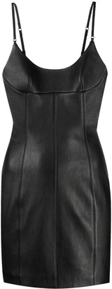 Alexander Wang Fitted Leather Short Dress