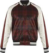Valentino Checked satin bomber jacket