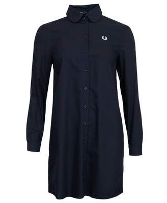 Fred Perry Authentics Button Down Shirt Dress Colour: NAVY, Size: 8