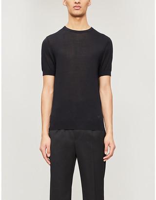 Emporio Armani Mulberry-silk T-shirt