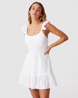 Cotton On Women's White Mini Dresses - Woven Blossom Strappy Mini Dress - Size S at The Iconic