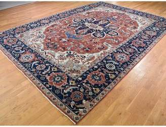 """R & E Darby Home Co One-of-a-Kind Flovilla Tribal Re Creation Hand-Knotted 10' x 14'3"""" Wool Red Area Rug Darby Home Co"""