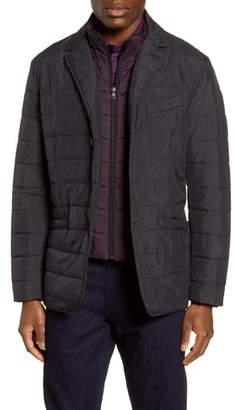 Robert Graham Tech Downhill Regular Fit Water Resistant Quilted Jacket