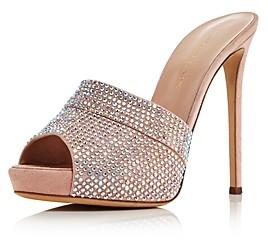 Giuseppe Zanotti Women's Crystal Embellished High-Heel Mules