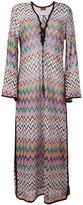 Missoni zig zag dress - women - Polyester/Cupro/Viscose - 40