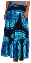 Jones New York Pleaed Prined Tye Dye Maxi Skir Women's Skir