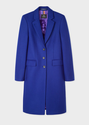 Paul Smith Women's Indigo Three-Button Wool-Blend Epsom Coat