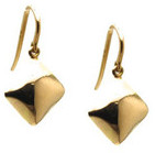 Tresor Collection - Lente Square Earring In 18k Yellow Gold