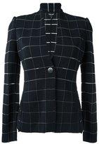 Giorgio Armani check woven jacket - women - Polyamide/Polyester/Spandex/Elastane/Viscose - 44