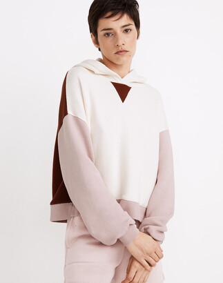 Madewell MWL Airyterry Hoodie Sweatshirt in Colorblock