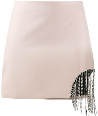 Area hanging rhinestone skirt