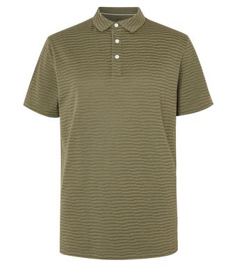Nike Striped Dri-Fit Cotton-Blend Pique Golf Polo Shirt