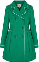 Yumi Trench Coat with Scallop Detail