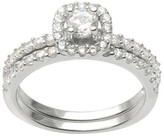 Journee Collection 4/5 CT. T.W. Round Cut CZ Basket Set Dainty Ring in Sterling Silver