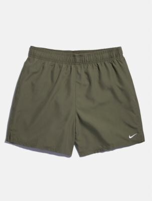 Nike Solid Olive Swim Shorts - Green S at Urban Outfitters