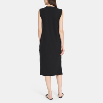 Theory Muscle T-Shirt Dress in Stretch Cotton