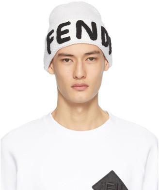 Fendi White Logo Beanie