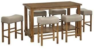 Gracie Oaks Hendina 7 Piece Counter Height Pub Table Set Gracie Oaks