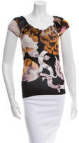 Roberto Cavalli Short Sleeve Printed Top