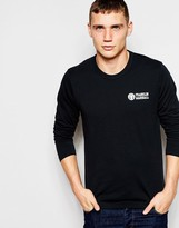 Franklin & Marshall Long Sleeve Crew Neck Top - Black