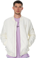Stussy Luxe Mens Bomber Jacket White