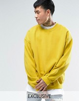 Reclaimed Vintage Inspired Oversized Sweatshirt In Yellow Overdye