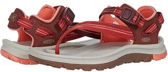 Keen Terradora II Toe Post (Dark Red/Coral) Women's Shoes