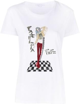 Patrizia Pepe crystal-embellished T-shirt