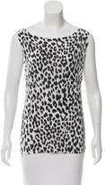 Saint Laurent Sleeveless Leopard Print Top