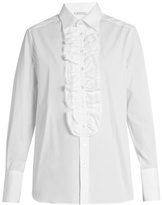 Bella Freud Dado ruffled-placket cotton shirt
