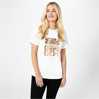 Biba Rose Gold Logo T Shirt