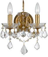 Swarovski Crystorama Filmore Two-Light Elements Crystal Gold Sconce
