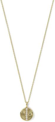 Ippolita 18K Glamazon Mini Disc Pendant Necklace with Diamonds