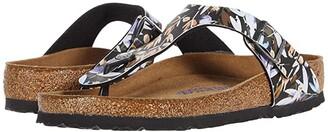 Birkenstock Gizeh Soft Footbed (Supernatural Flower Navy Birko-Flortm) Women's Sandals
