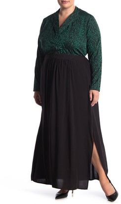 City Chic Split Maxi Skirt (Plus Size)