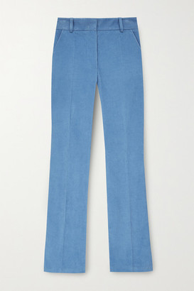 Victoria Beckham Cotton-corduroy Straight-leg Pants - Blue