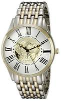 August Steiner Men's CN009TTG Yellow Gold Quartz Watch with Buffalo Nickel Dial and Yellow Gold and Silver Bracelet