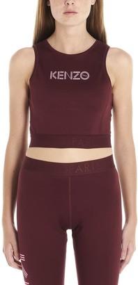 Kenzo Logo Printed Cropped Tank Top