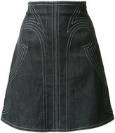 Derek Lam 10 Crosby stitched A-line skirt - women - Cotton/Polyamide - 0