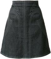 Derek Lam 10 Crosby stitched A-line skirt - women - Cotton/Polyamide - 2
