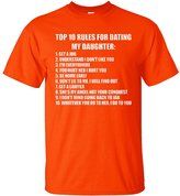 YM Wear Men's Top Ten Rules For Dating My Daughter Funny Novelty T Shirt T Shirt